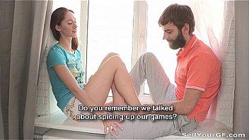 Нескромная пара занимается попой на дивана по окончании недавнего знакомства